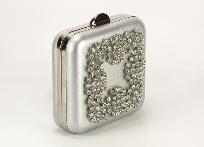 Geanta Clutch argintiu 2