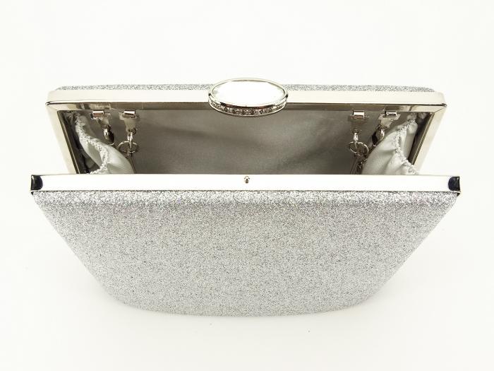 Geanta clutch argintie Lavinia 3