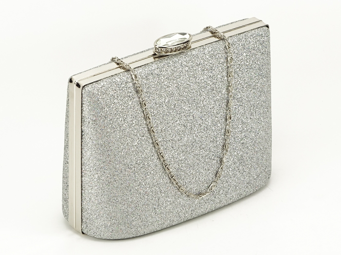 Geanta clutch argintie Lavinia 1