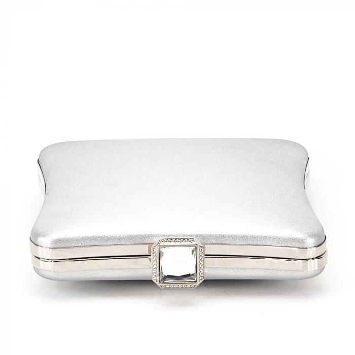 Geanta clutch argintiu Mara 2