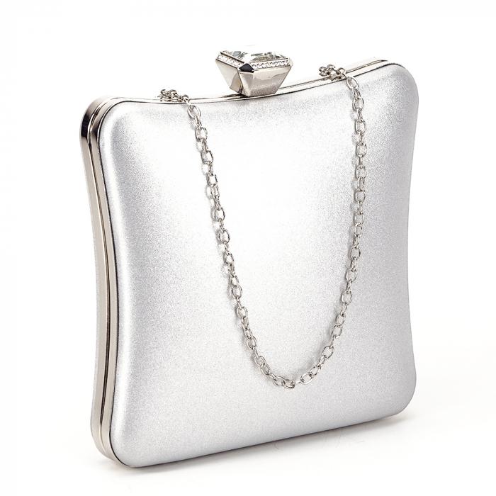 Geanta clutch argintiu Mara 1