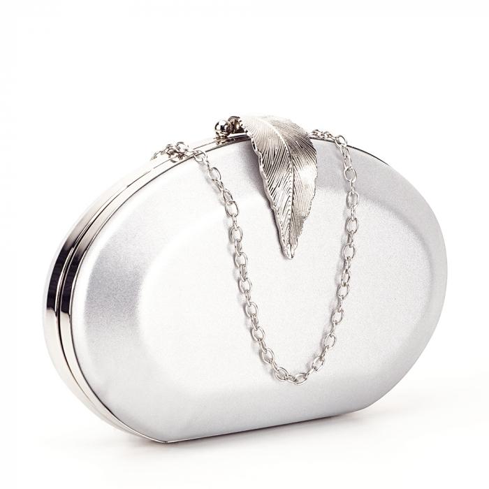 Geanta clutch argintiu Margareta 0