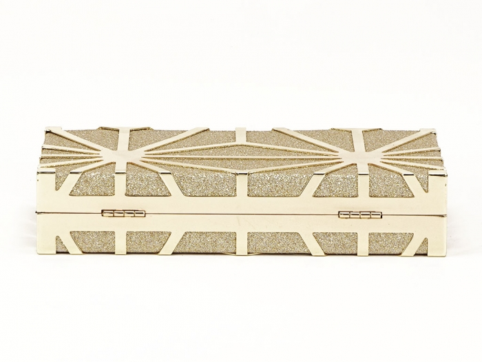 Geanta clutch elegant auriu Alison 5