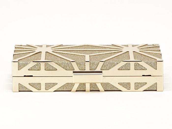 Geanta clutch elegant auriu Alison 4