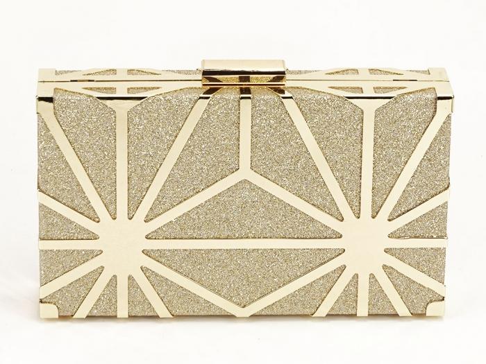 Geanta clutch elegant auriu Alison 2