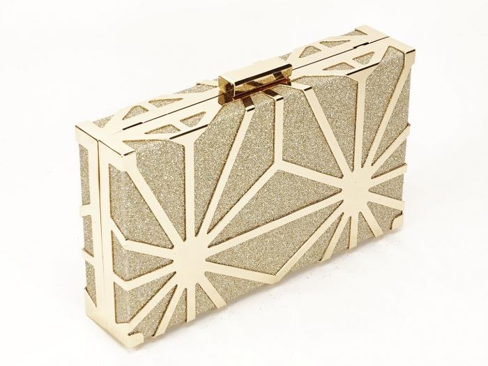Geanta clutch elegant auriu Alison 0
