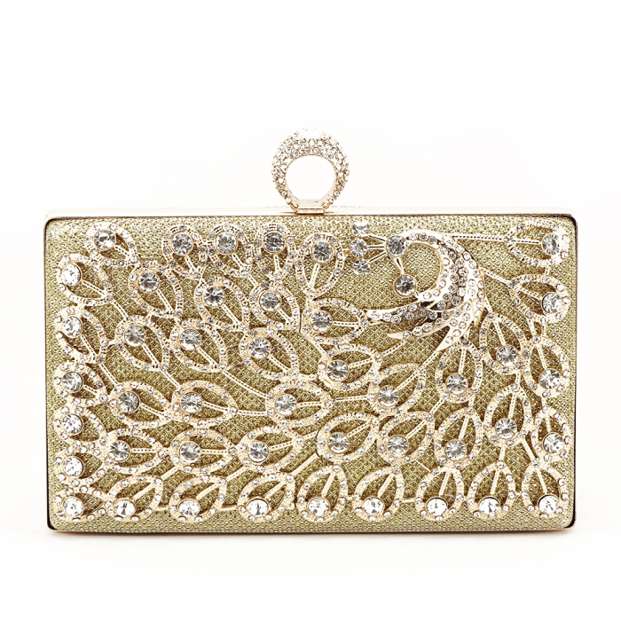 Geanta clutch auriu Rania