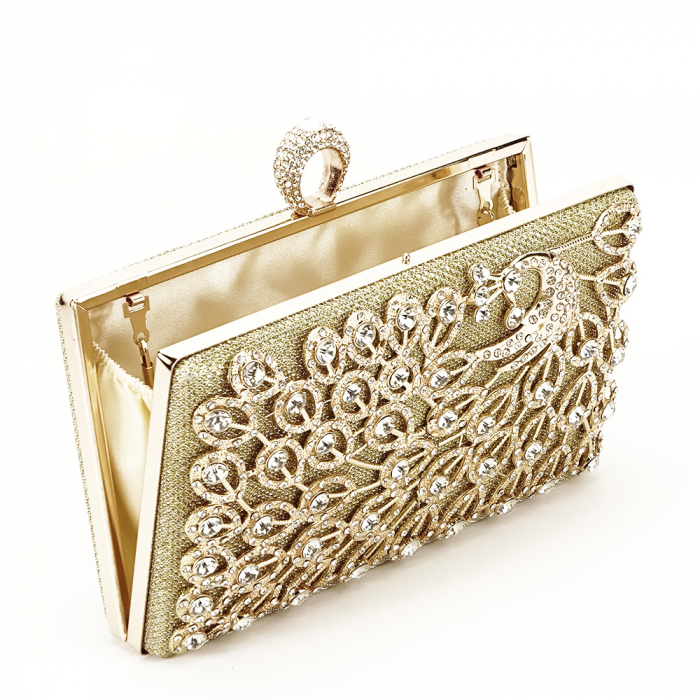 Geanta clutch auriu Rania [3]