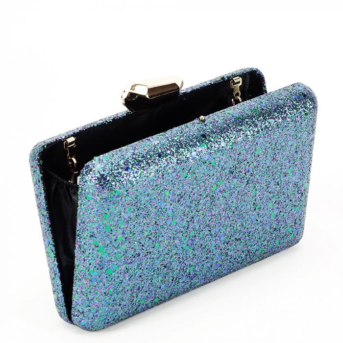 Geanta clutch bleumarin Sonia [4]