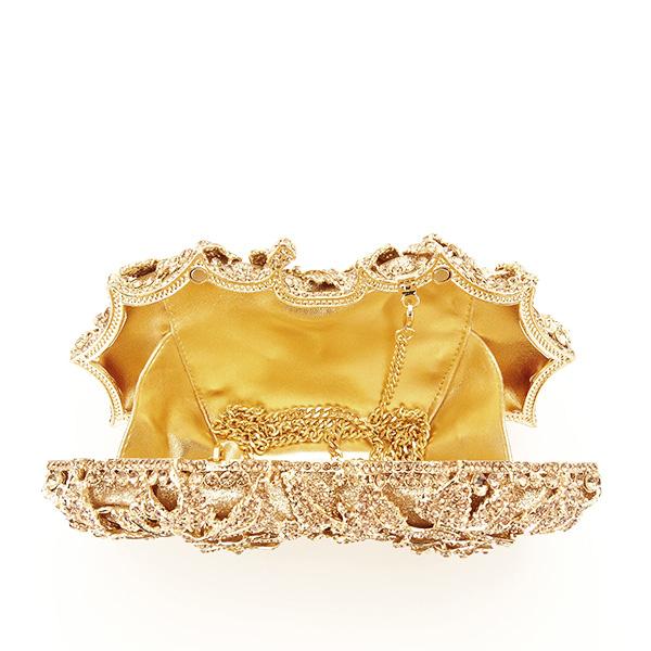 Geanta clutch de lux champagne Graciela [5]