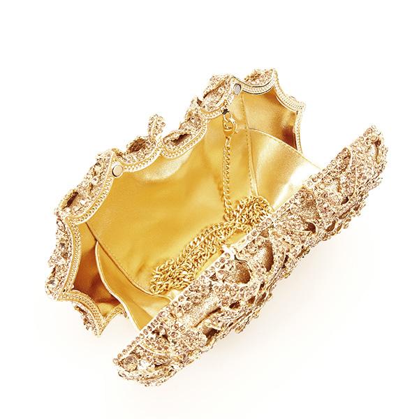 Geanta clutch de lux champagne Graciela [6]