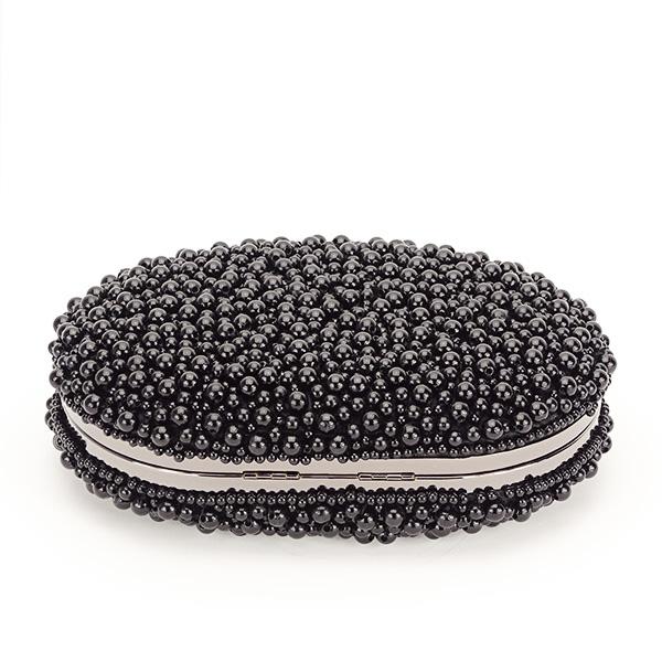 Geanta clutch negru cu margele Rebeca [3]