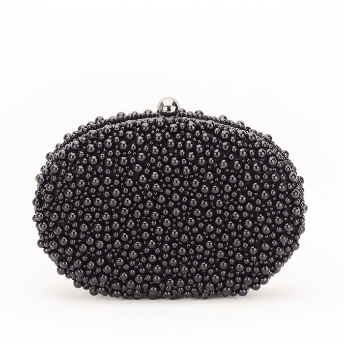 Geanta clutch negru cu margele Rebeca [0]