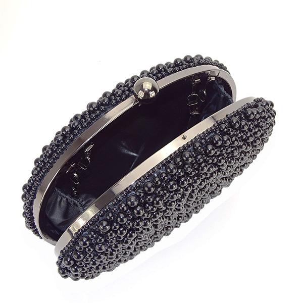 Geanta clutch negru cu margele Rebeca [6]