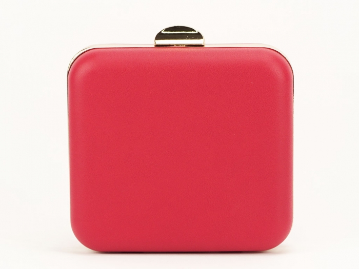 Geanta clutch rosu elegant Ingrid 4