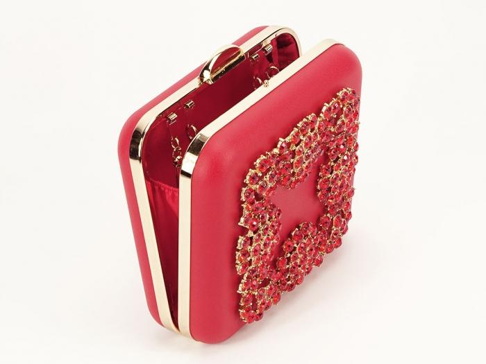 Geanta clutch rosu elegant Ingrid 1