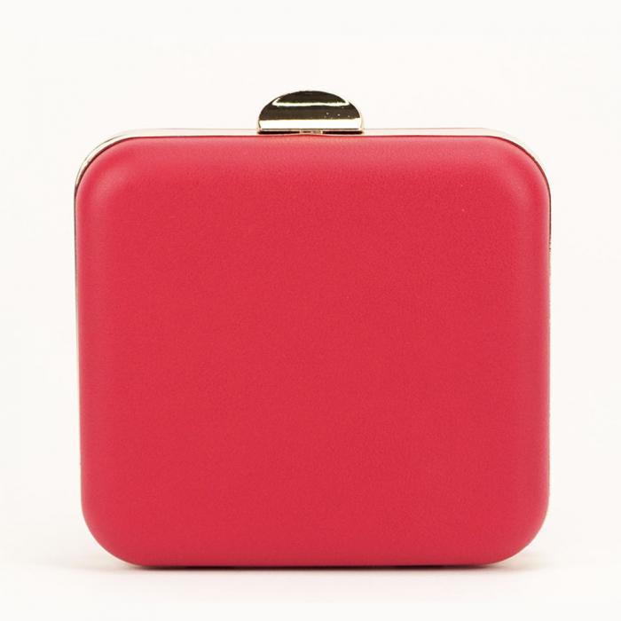 Geanta clutch rosu elegant Ingrid 3