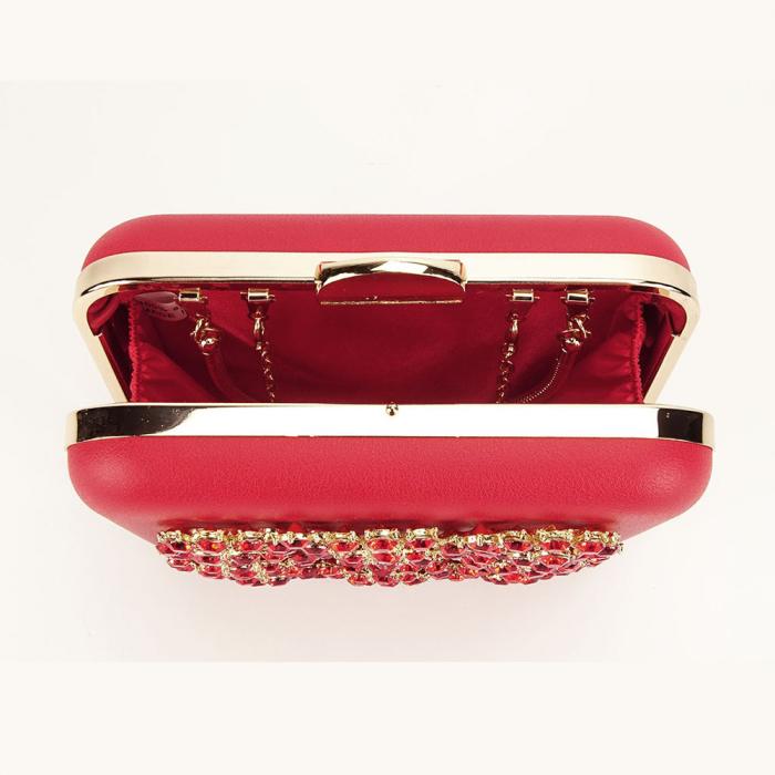 Geanta clutch rosu elegant Ingrid 5
