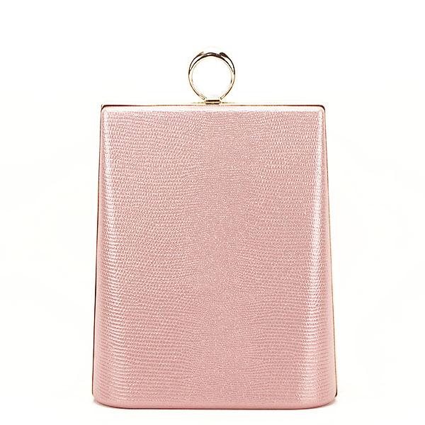 Geanta clutch roz cu imprimeu Noemi [6]