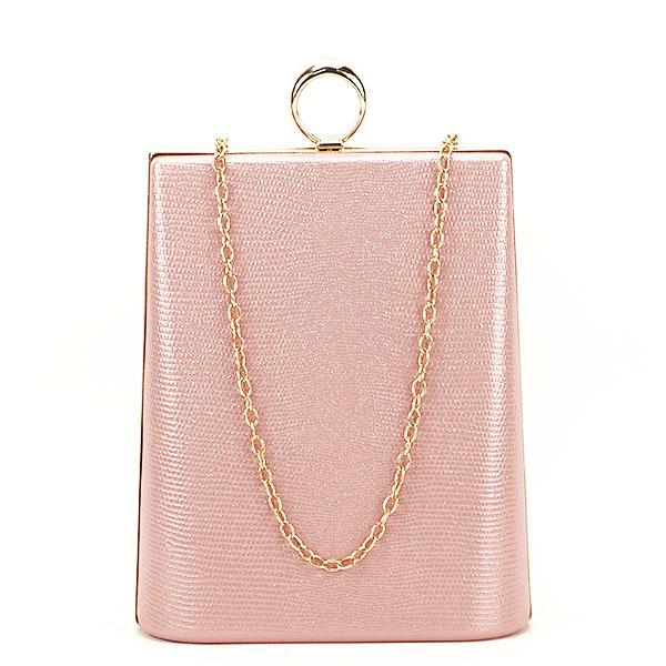 Geanta clutch roz cu imprimeu Noemi [1]