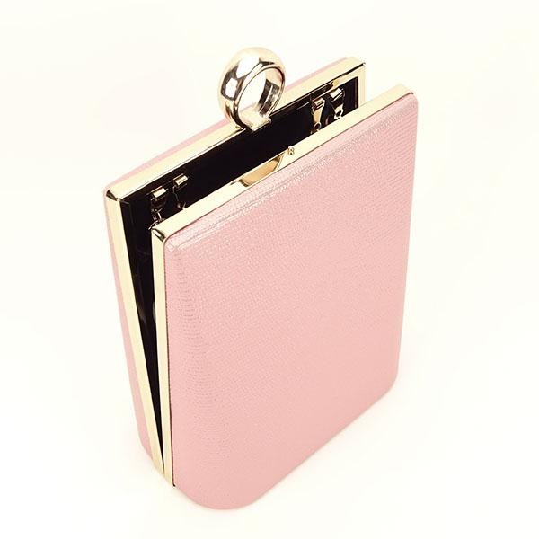 Geanta clutch roz cu imprimeu Noemi [3]