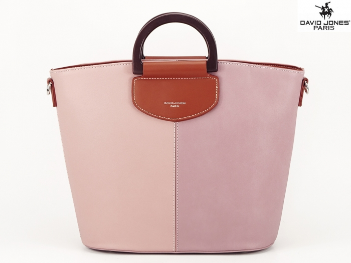 Geanta dama roz in doua nuante Vanila 0