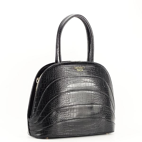 Geanta neagra eleganta cu imprimeu Briana 2