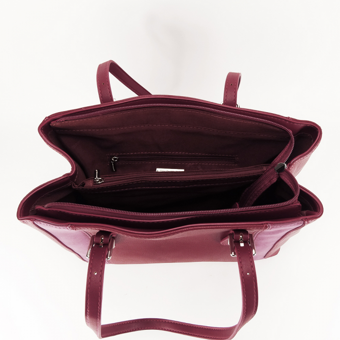 Geanta office rosu inchis Raven 5