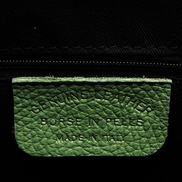 Geanta piele naturala verde Lisandra [7]