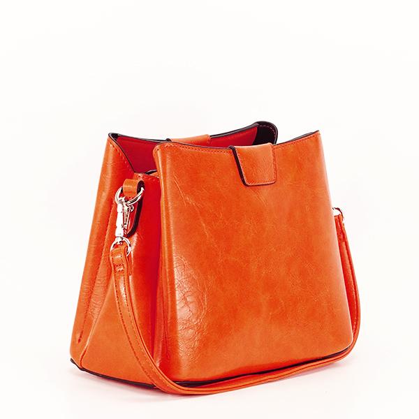 Geanta portocalie cu aspect marmorat Judy [1]