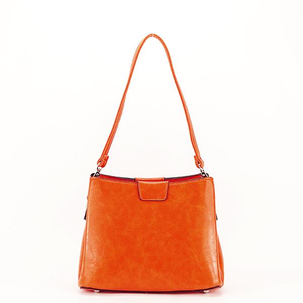 Geanta portocalie cu aspect marmorat Judy [4]