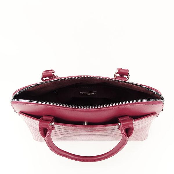 Geanta rosu inchis cu imprimeu Ana 3
