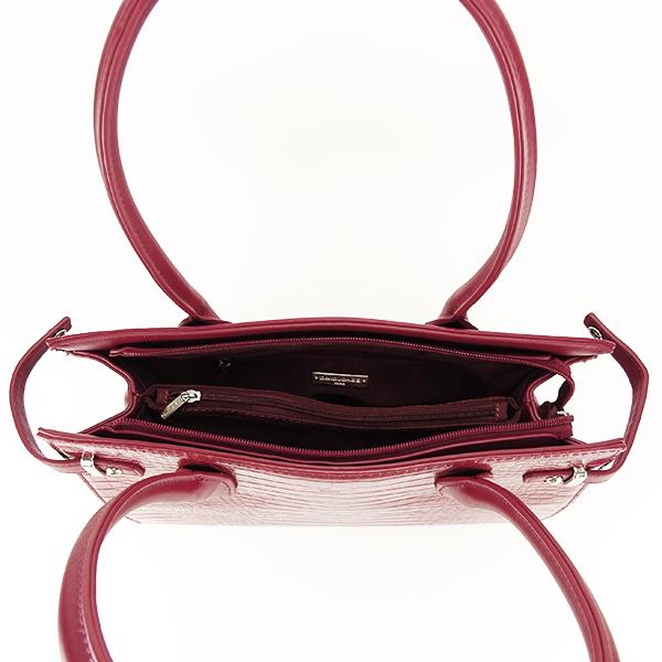 Geanta rosu inchis cu imprimeu Heidi 3