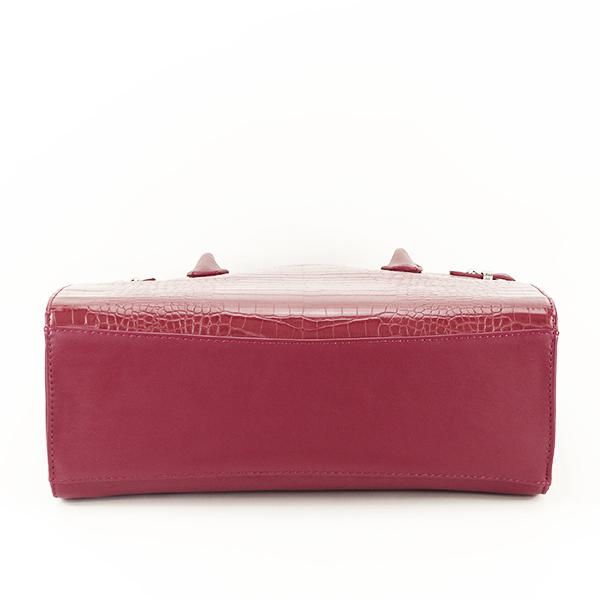 Geanta rosu inchis cu imprimeu Heidi 5