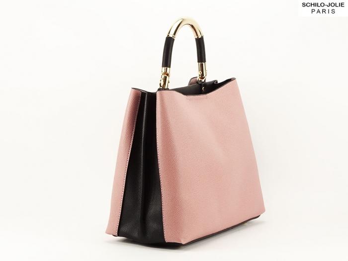 Geanta dama casual roz cu negru Alexia 0