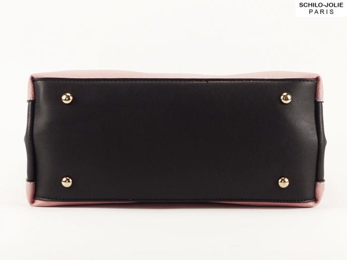 Geanta dama casual roz cu negru Alexia 3