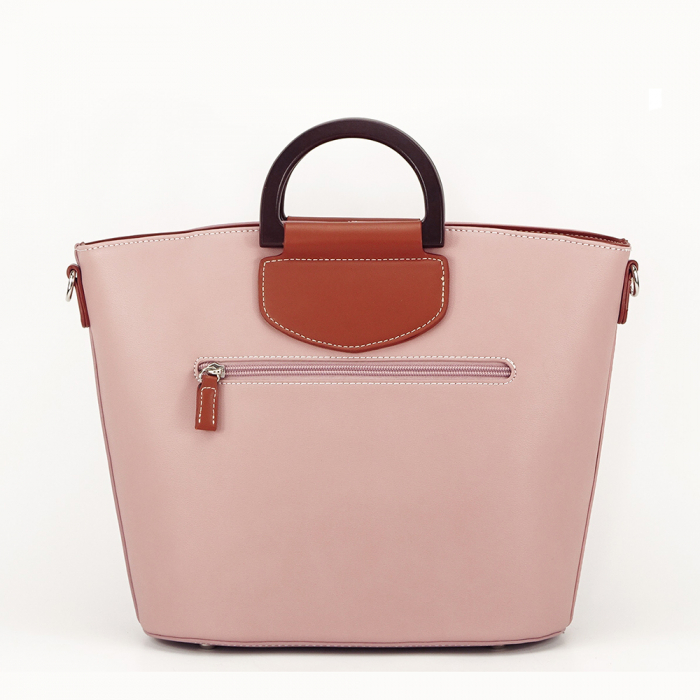 Geanta dama roz in doua nuante Vanila 2