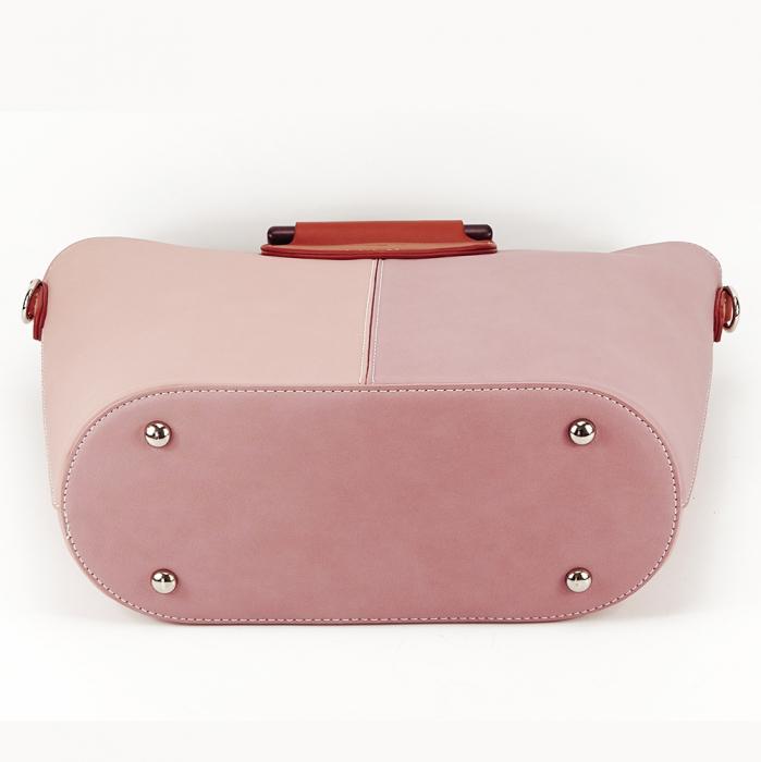 Geanta dama roz in doua nuante Vanila 6