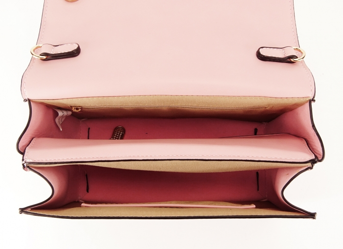 Geanta roz de talie mica cu brosa in forma de albina Honey 2