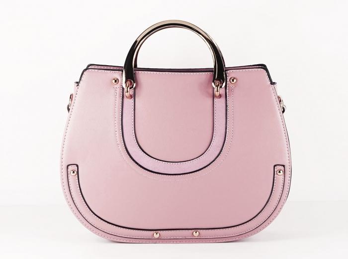Geanta roz dama de dimensiune medie Mirea 0