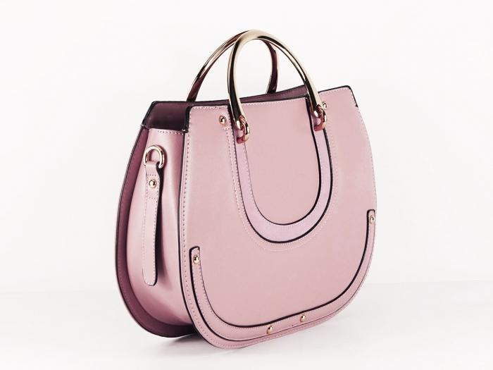 Geanta roz dama de dimensiune medie Mirea 1
