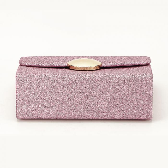 Geanta clutch roz elegant Emma 4