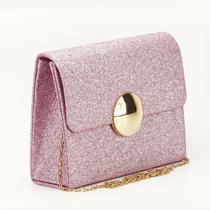 Geanta clutch roz elegant Emma 0