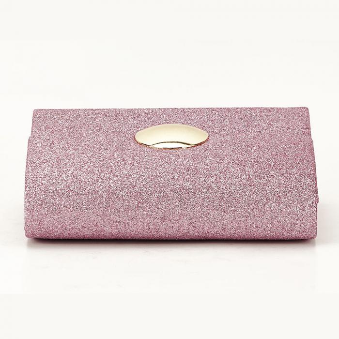 Geanta clutch roz elegant Emma 5