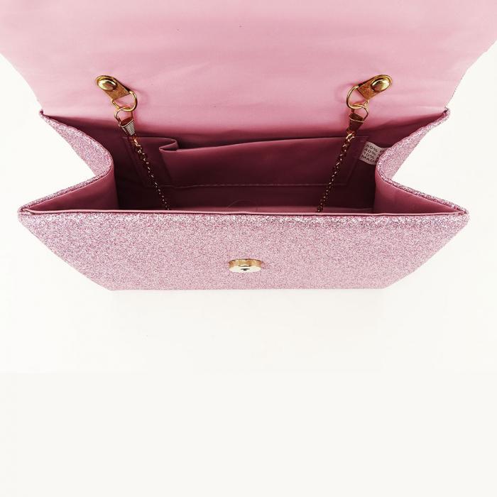 Geanta clutch roz elegant Emma 3