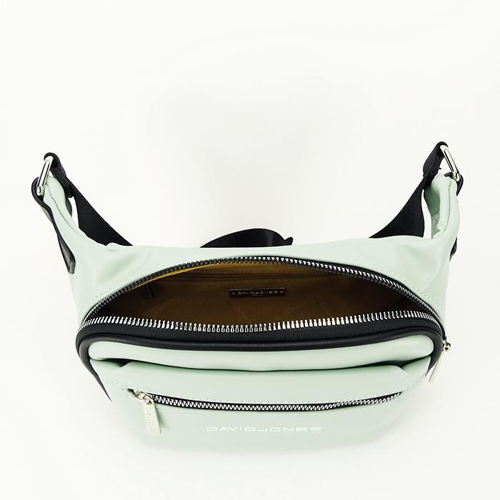 Borseta, geanta de brau verde Crina 3
