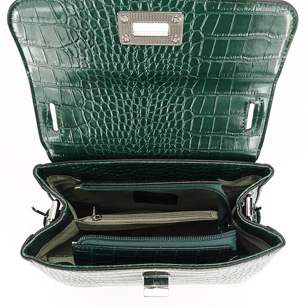 Geanta verde inchis cu imprimeu Brenda 4