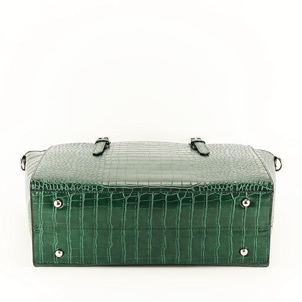 Geanta verde inchis cu imprimeu Kira [5]