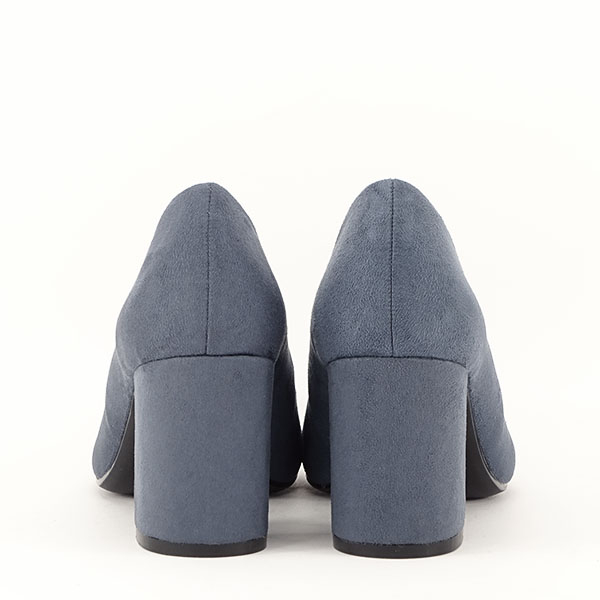 Pantofi albastri cu toc gros Adelina 5