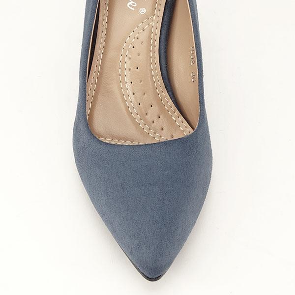 Pantofi albastri cu toc gros Adelina 6
